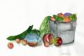 野菜とバケツ