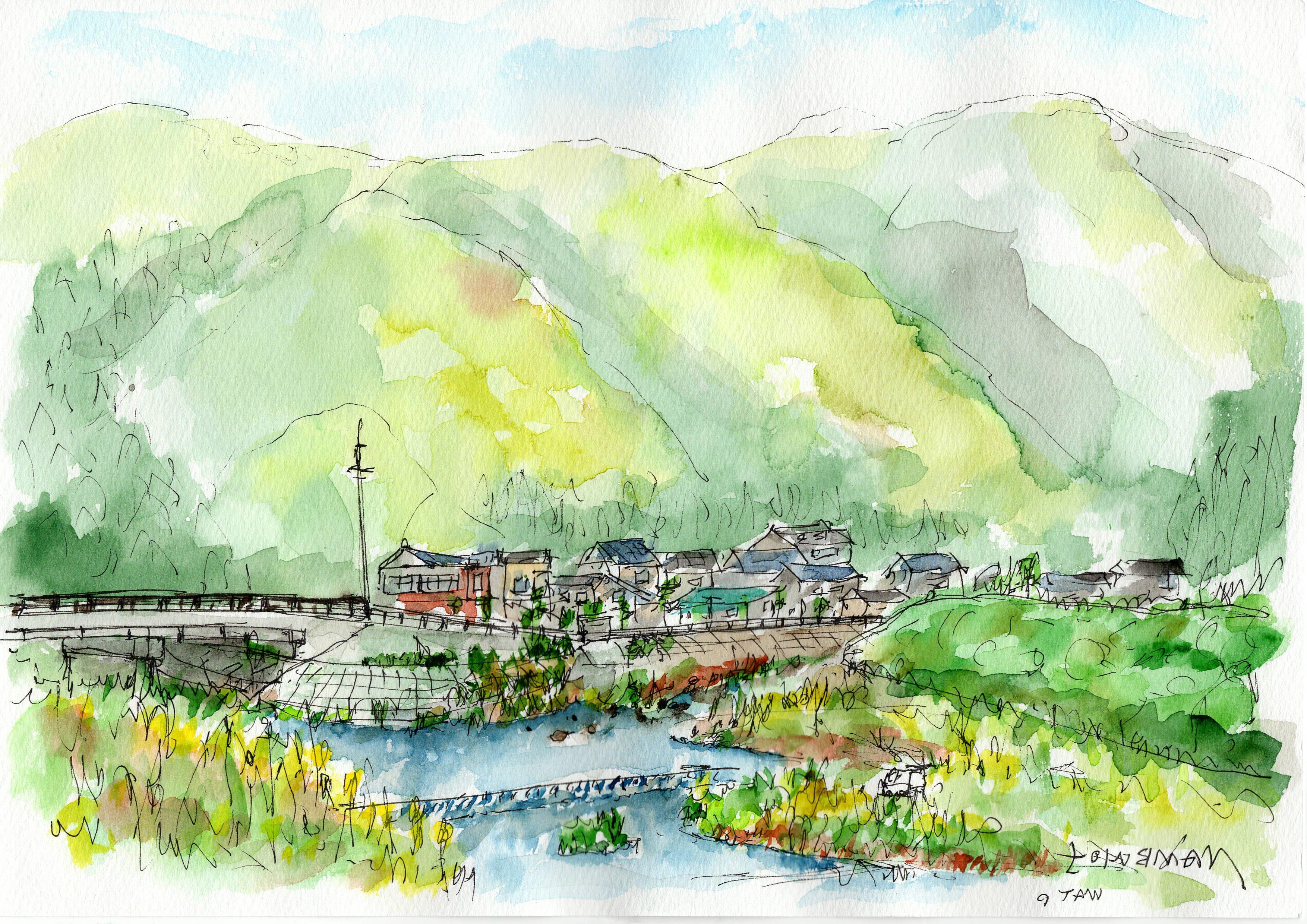 故郷の山川