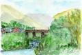 小浜線鉄橋と川